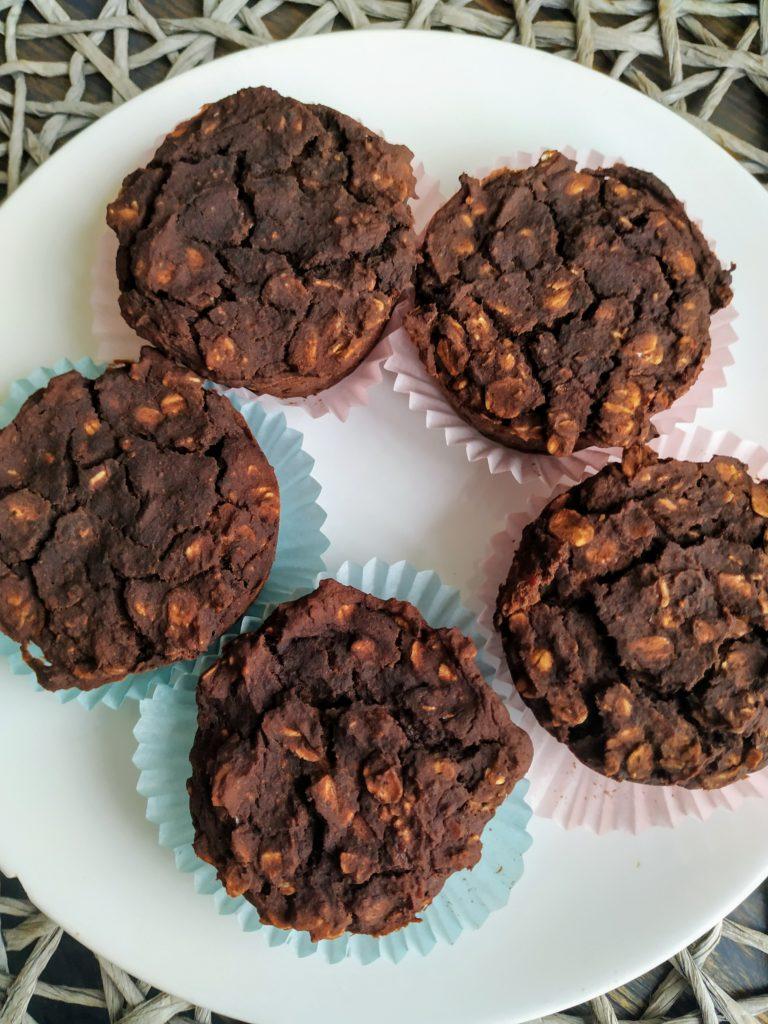 Muffiny z fasoli czerwonej