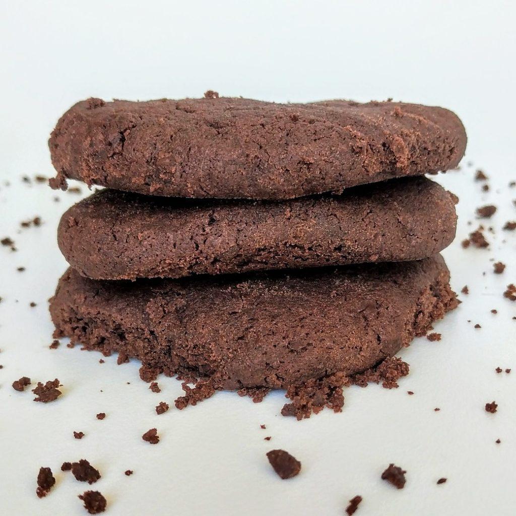 Ciasteczka kruche mocno czekoladowe