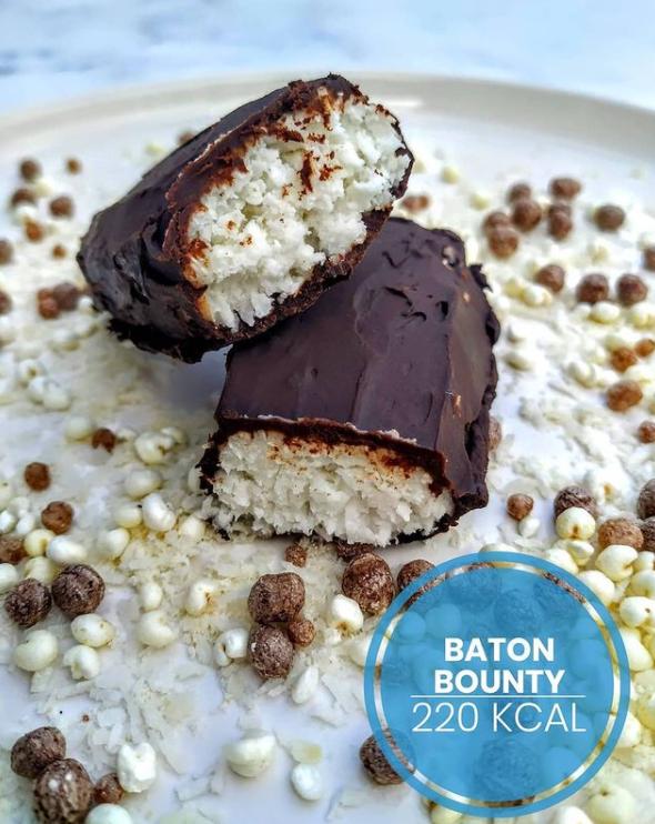 batoniki bounty zdrowe batony batony kokosowe kokos