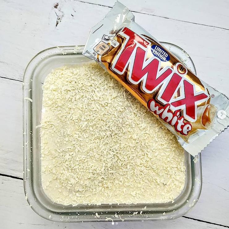 ciasto ciasto jednoporcjowe ciasto bez pieczenia ciasto twix ciasto twix white